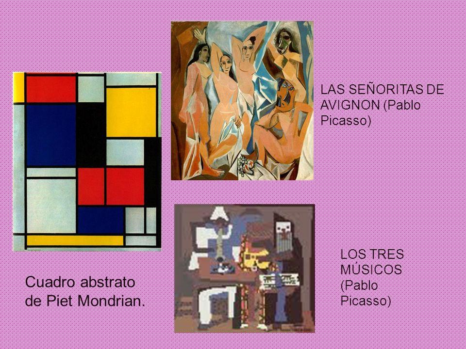 Cuadro abstrato de Piet Mondrian.