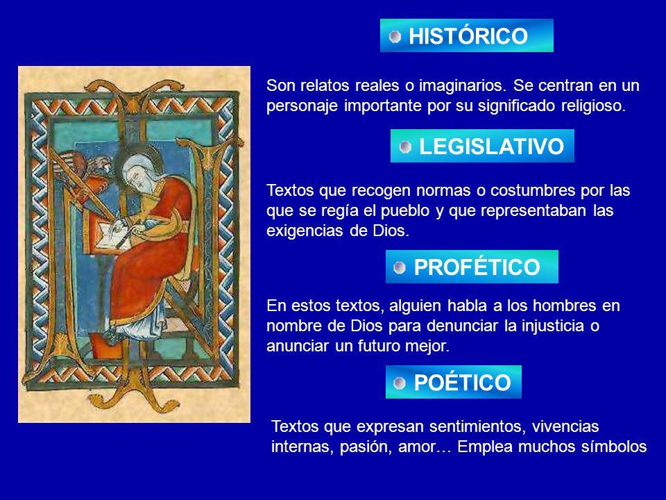 HISTÓRICO LEGISLATIVO PROFÉTICO POÉTICO