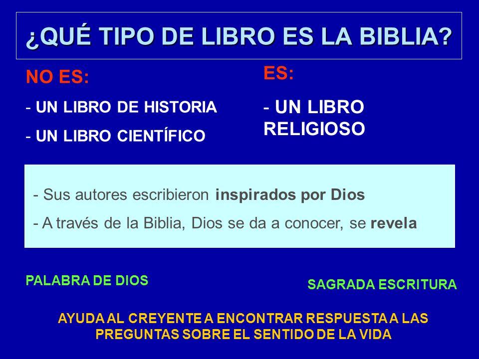 ¿QUÉ TIPO DE LIBRO ES LA BIBLIA