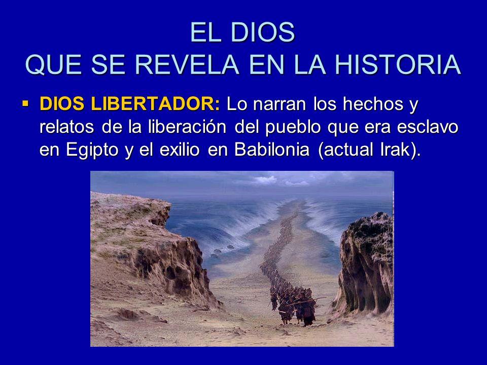 EL DIOS QUE SE REVELA EN LA HISTORIA