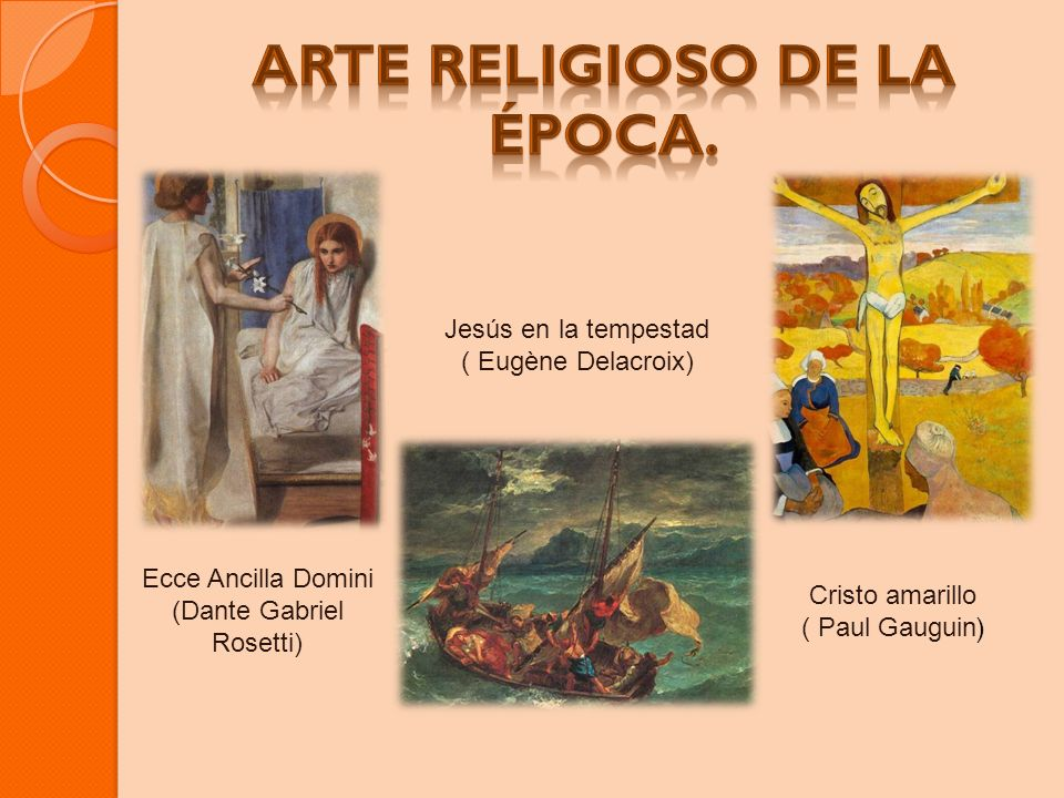 Arte religioso de la época.