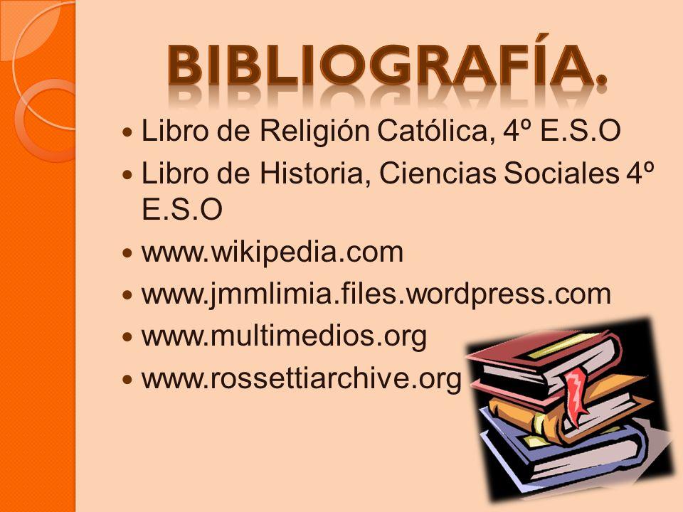 Bibliografía. Libro de Religión Católica, 4º E.S.O