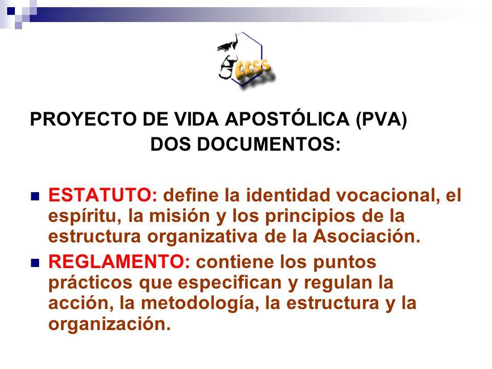 PROYECTO DE VIDA APOSTÓLICA (PVA)