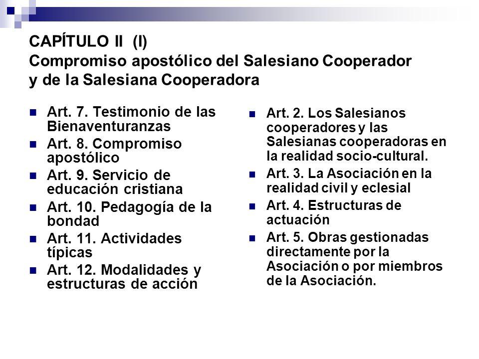 CAPÍTULO II (I) Compromiso apostólico del Salesiano Cooperador y de la Salesiana Cooperadora