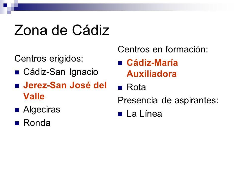Zona de Cádiz Centros en formación: Cádiz-María Auxiliadora