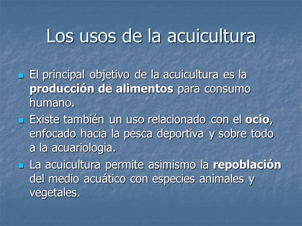 Los usos de la acuicultura