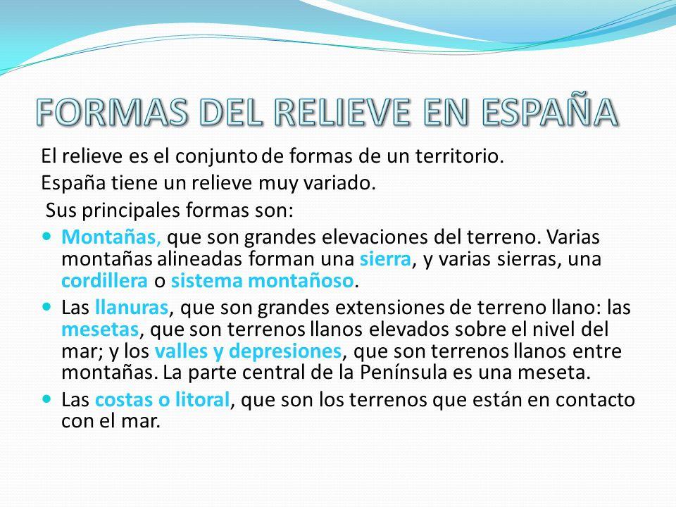 FORMAS DEL RELIEVE EN ESPAÑA
