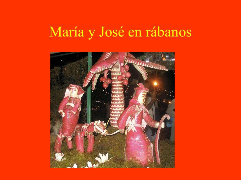 María y José en rábanos