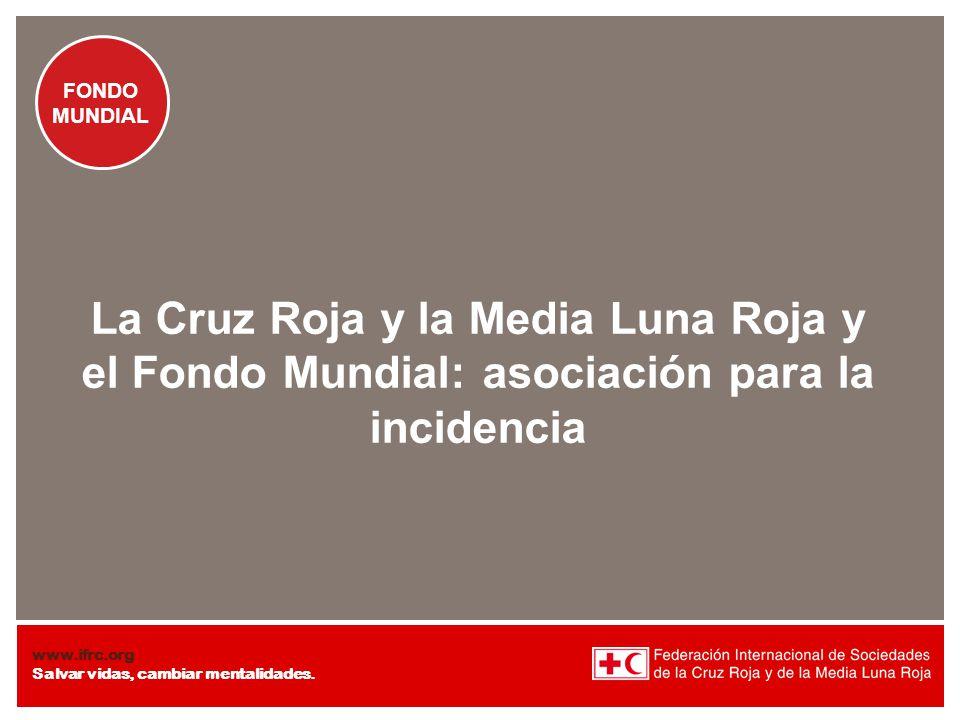 La Cruz Roja y la Media Luna Roja y el Fondo Mundial: asociación para la incidencia