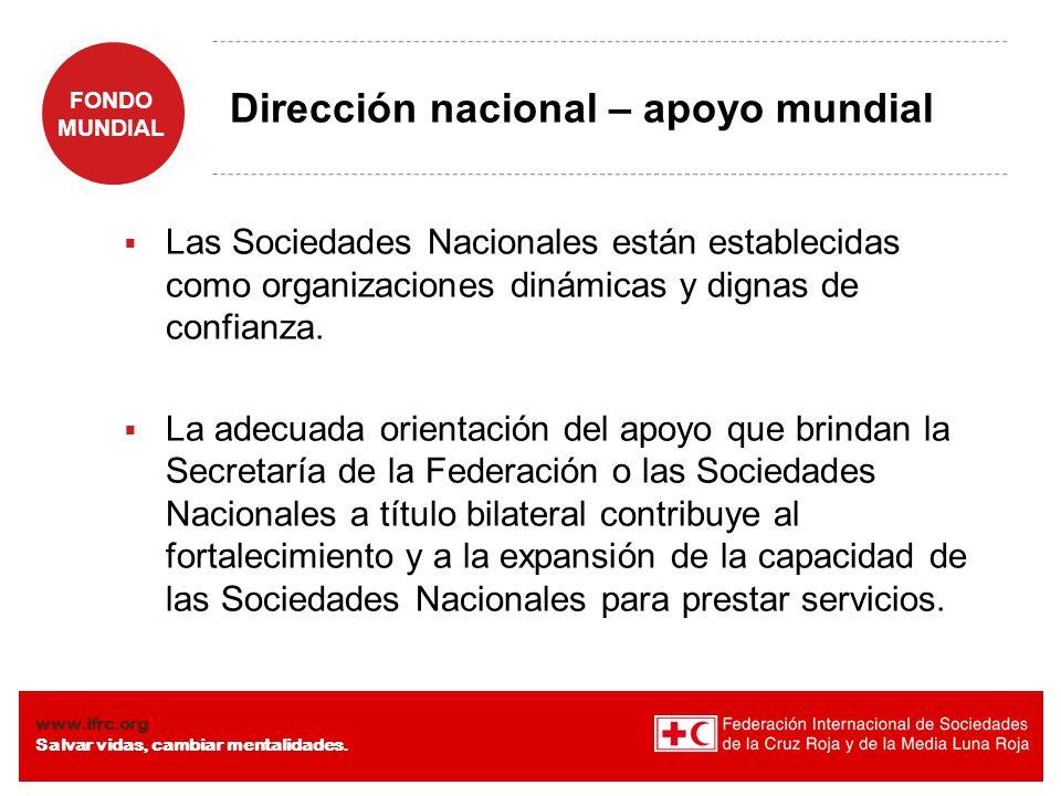 Dirección nacional – apoyo mundial