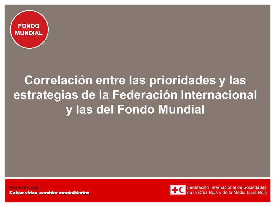 Correlación entre las prioridades y las estrategias de la Federación Internacional y las del Fondo Mundial