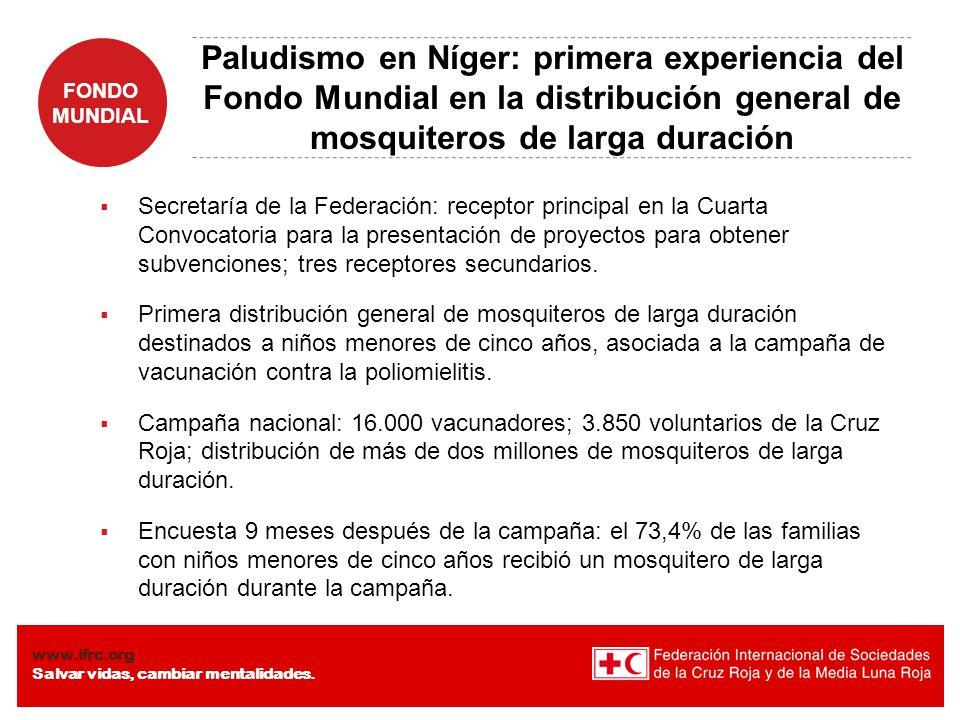 Paludismo en Níger: primera experiencia del Fondo Mundial en la distribución general de mosquiteros de larga duración