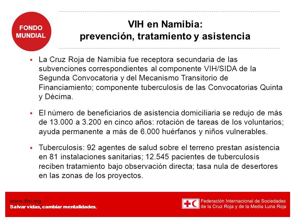 VIH en Namibia: prevención, tratamiento y asistencia