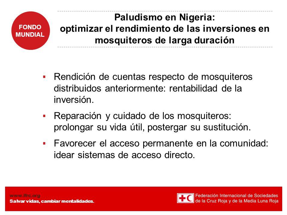 Paludismo en Nigeria: optimizar el rendimiento de las inversiones en mosquiteros de larga duración