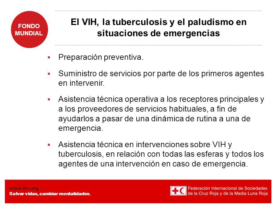 El VIH, la tuberculosis y el paludismo en situaciones de emergencias