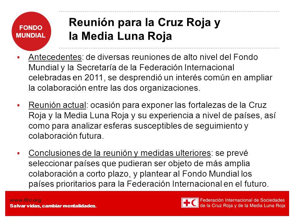 Reunión para la Cruz Roja y la Media Luna Roja