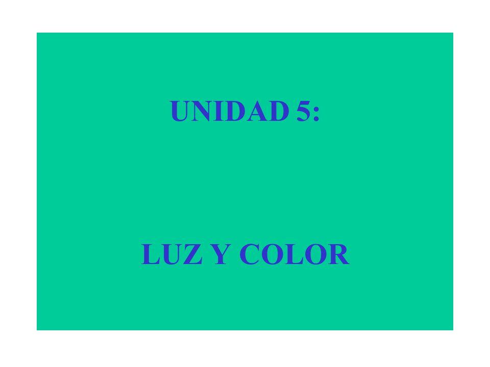 UNIDAD 5: LUZ Y COLOR