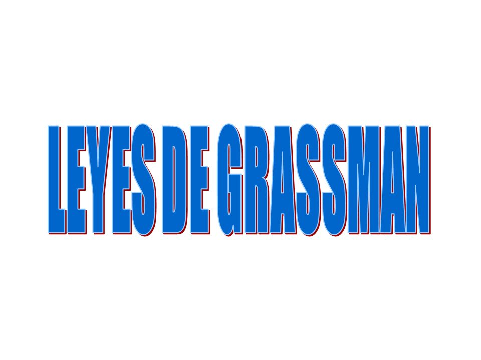LEYES DE GRASSMAN