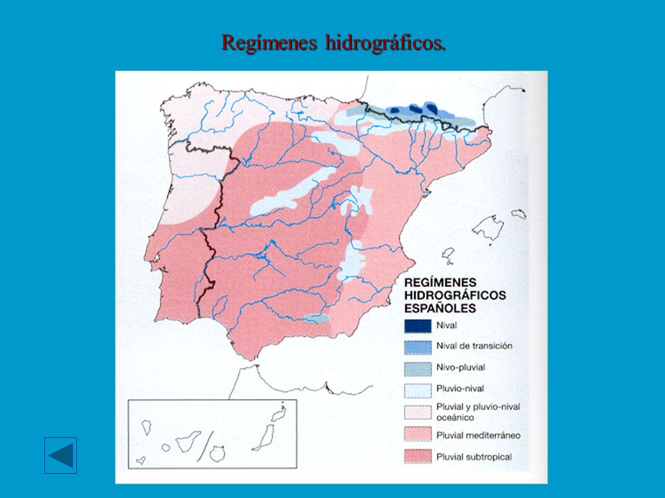 Regímenes hidrográficos.
