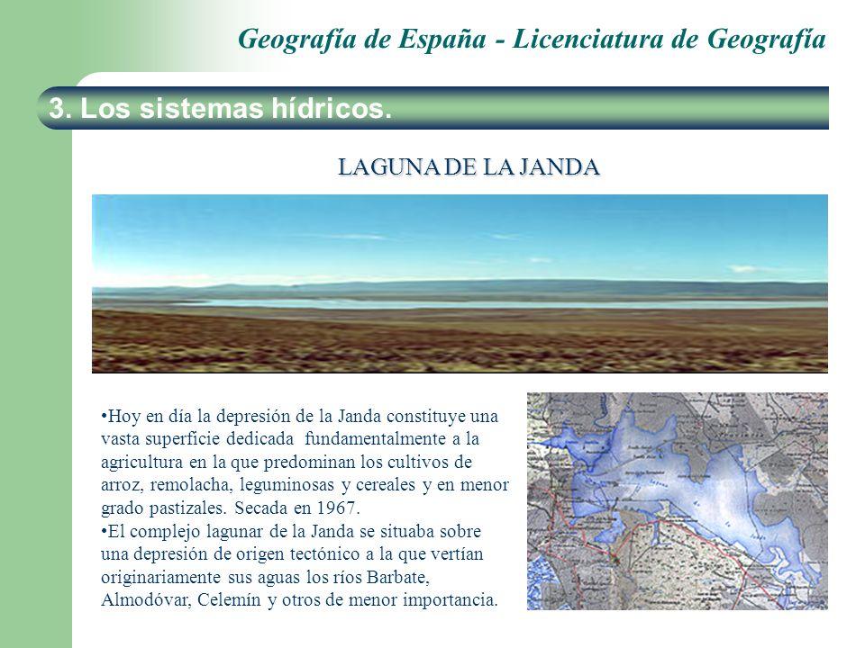 3. Los sistemas hídricos. LAGUNA DE LA JANDA