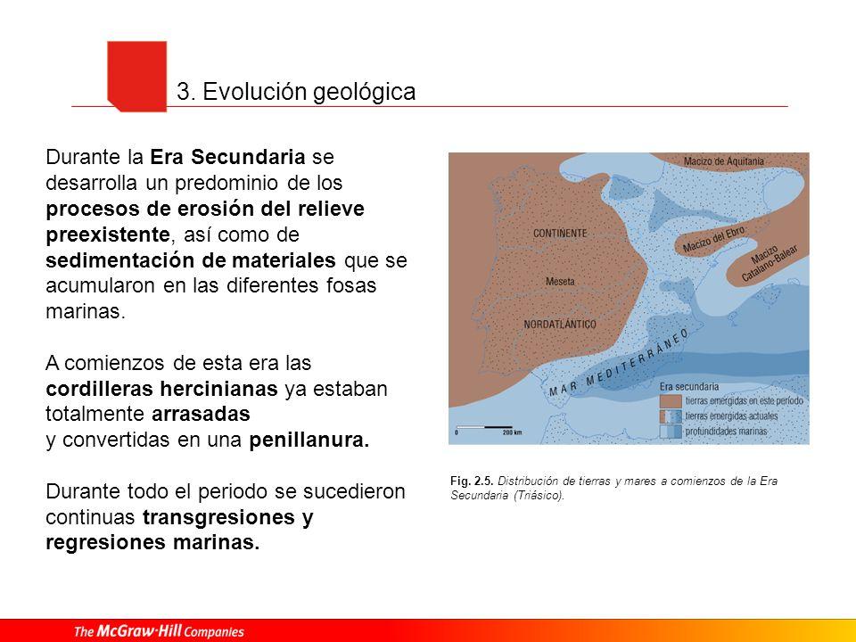 3. Evolución geológica