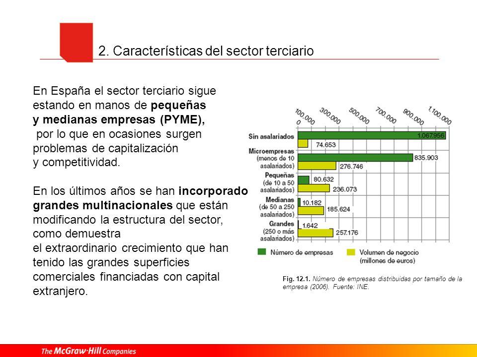 2. Características del sector terciario