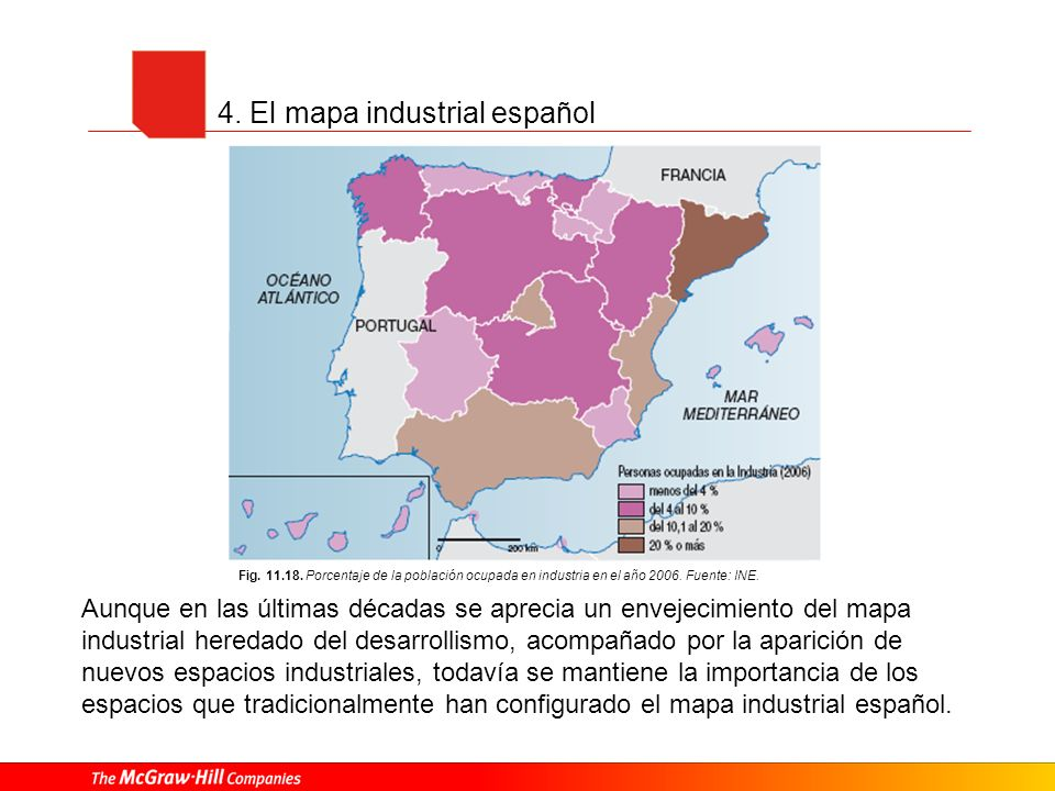 4. El mapa industrial español