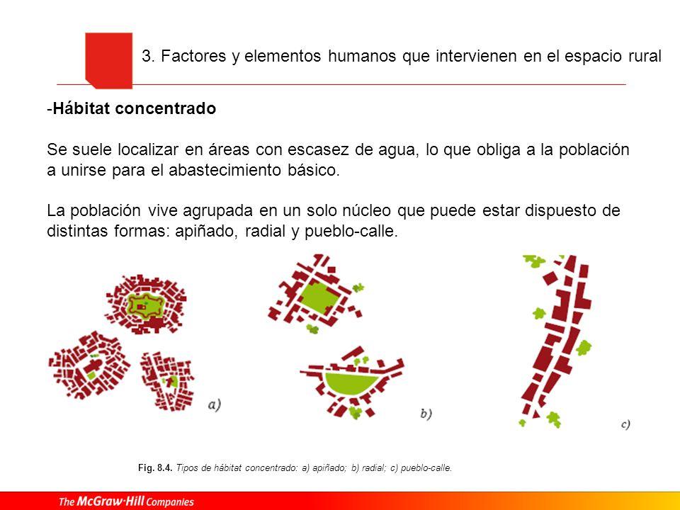 3. Factores y elementos humanos que intervienen en el espacio rural