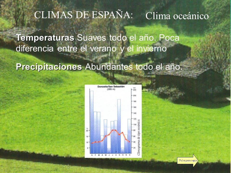 CLIMAS DE ESPAÑA: Clima oceánico