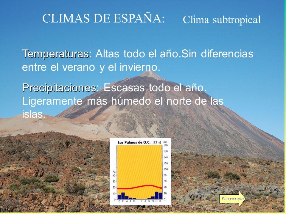 CLIMAS DE ESPAÑA: Clima subtropical