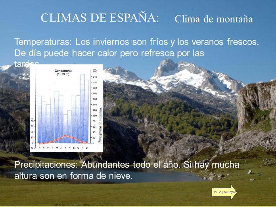 CLIMAS DE ESPAÑA: Clima de montaña