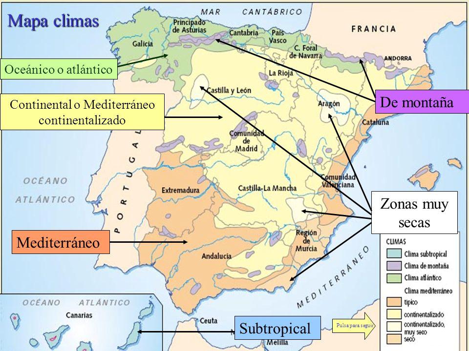 Continental o Mediterráneo continentalizado