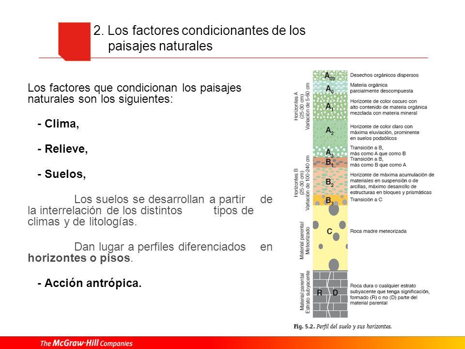 2. Los factores condicionantes de los paisajes naturales