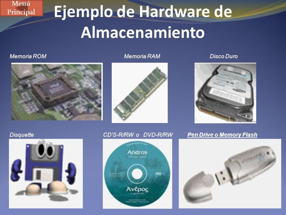 Ejemplo de Hardware de Almacenamiento