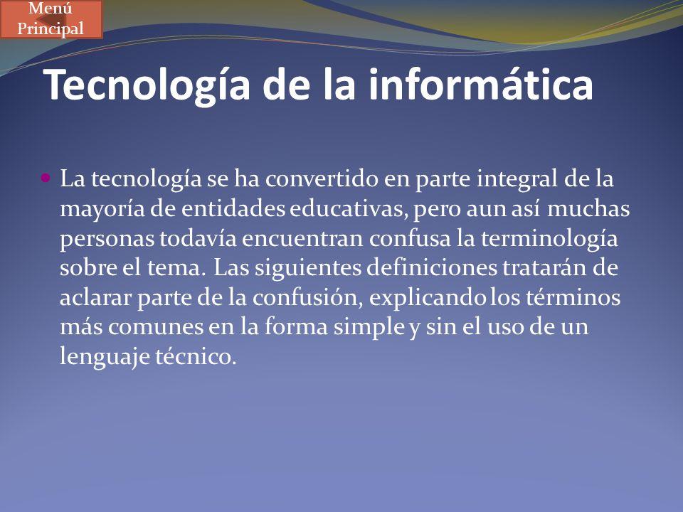 Tecnología de la informática