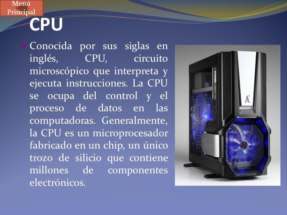 Menú Principal CPU.