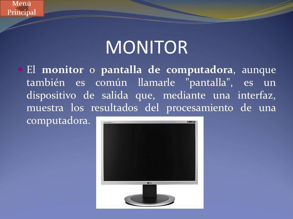 Menú Principal MONITOR.