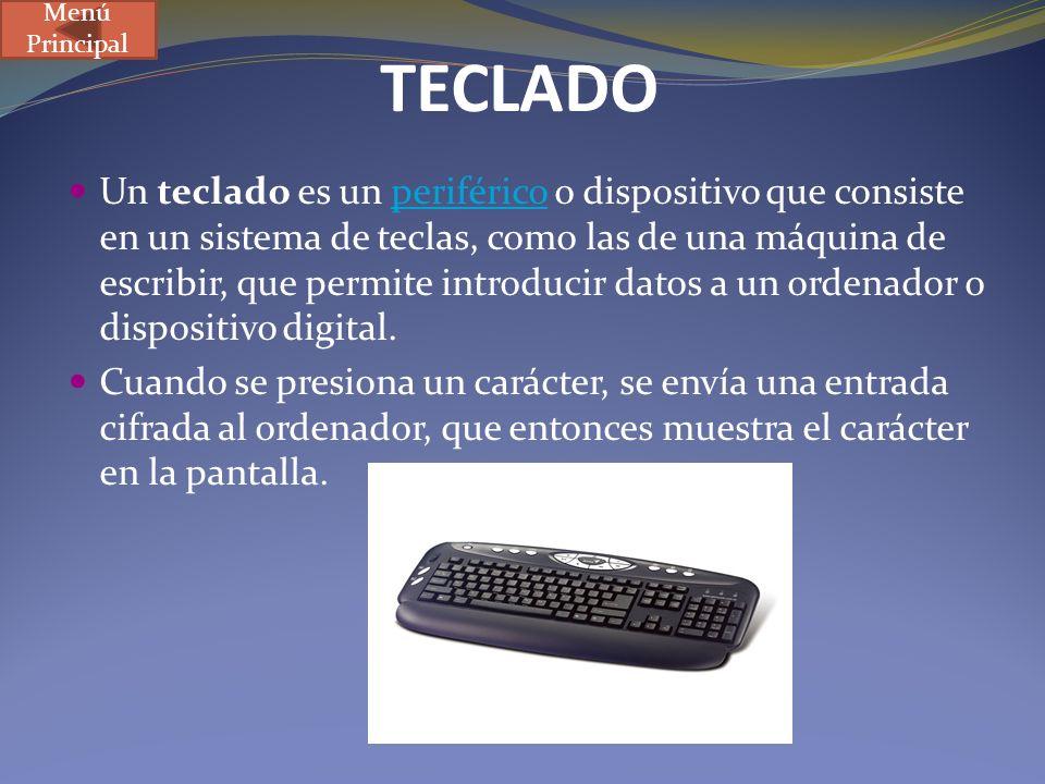 Menú Principal TECLADO.