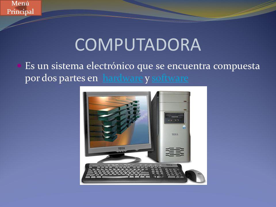 Menú Principal COMPUTADORA.