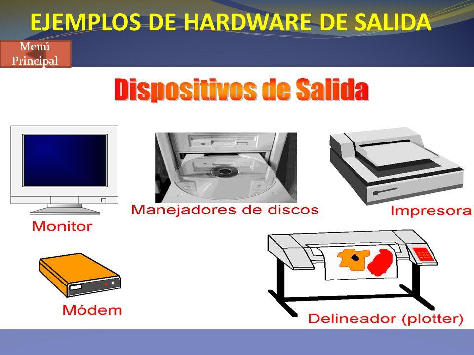 EJEMPLOS DE HARDWARE DE SALIDA