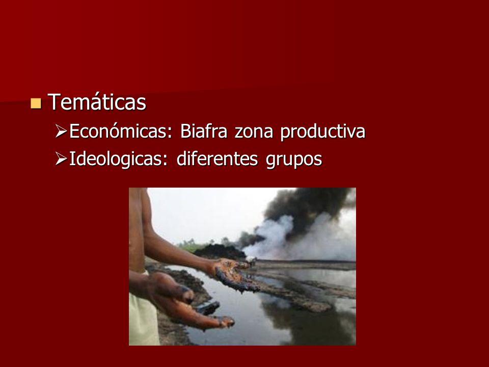 Temáticas Económicas: Biafra zona productiva