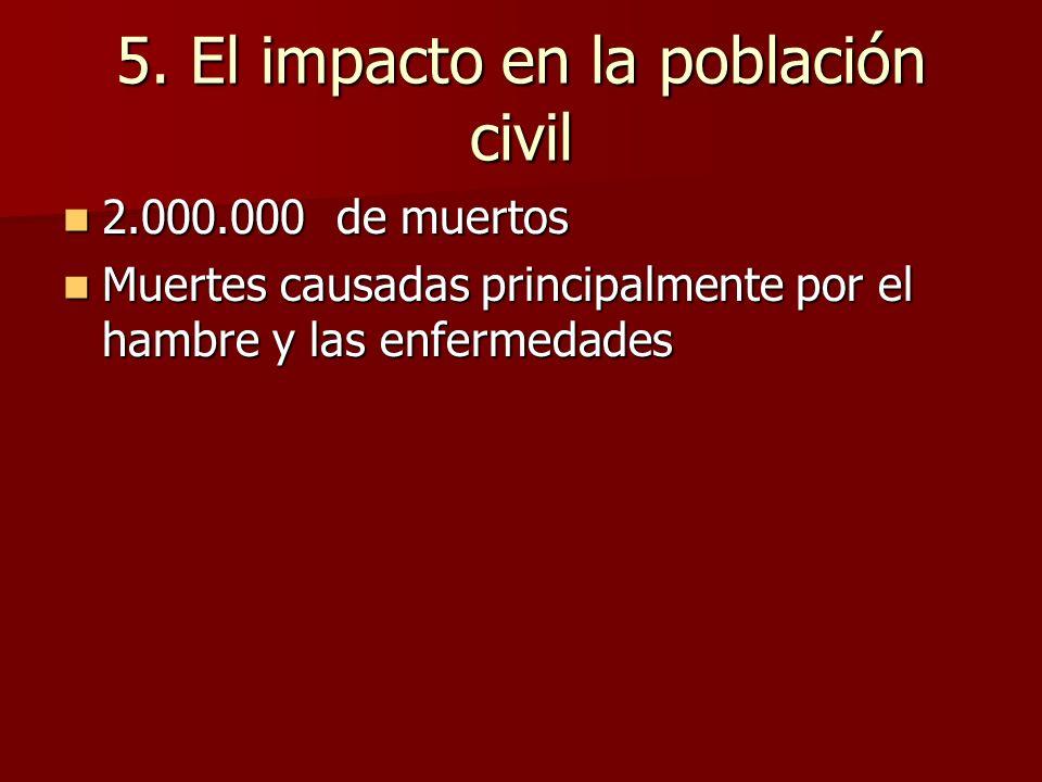 5. El impacto en la población civil