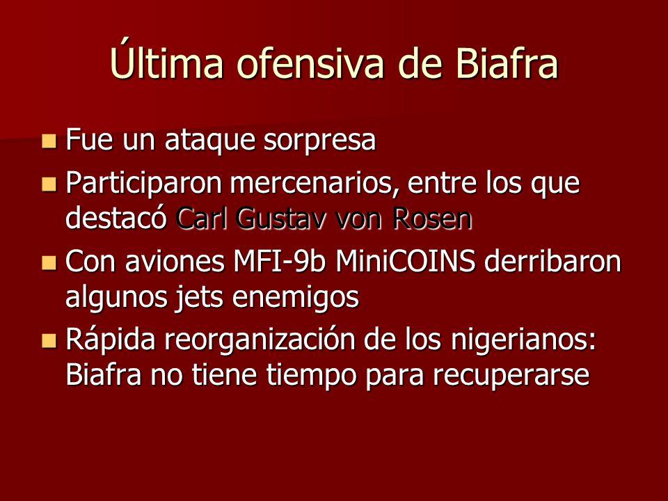 Última ofensiva de Biafra