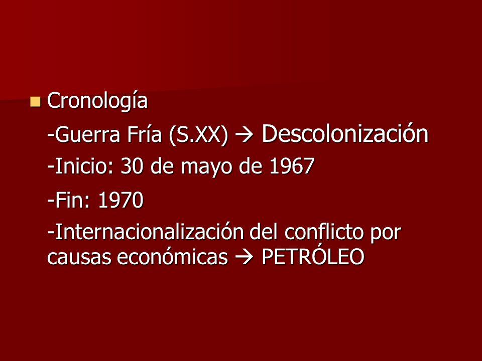 -Fin: 1970 Cronología -Guerra Fría (S.XX)  Descolonización