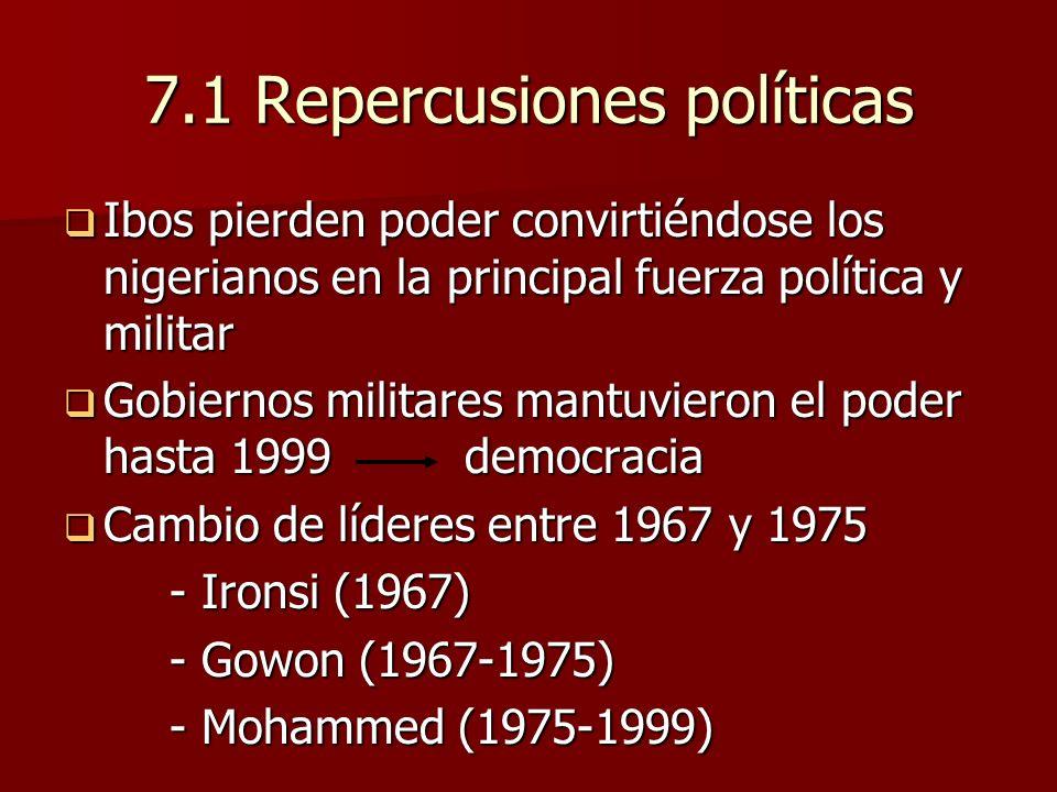 7.1 Repercusiones políticas