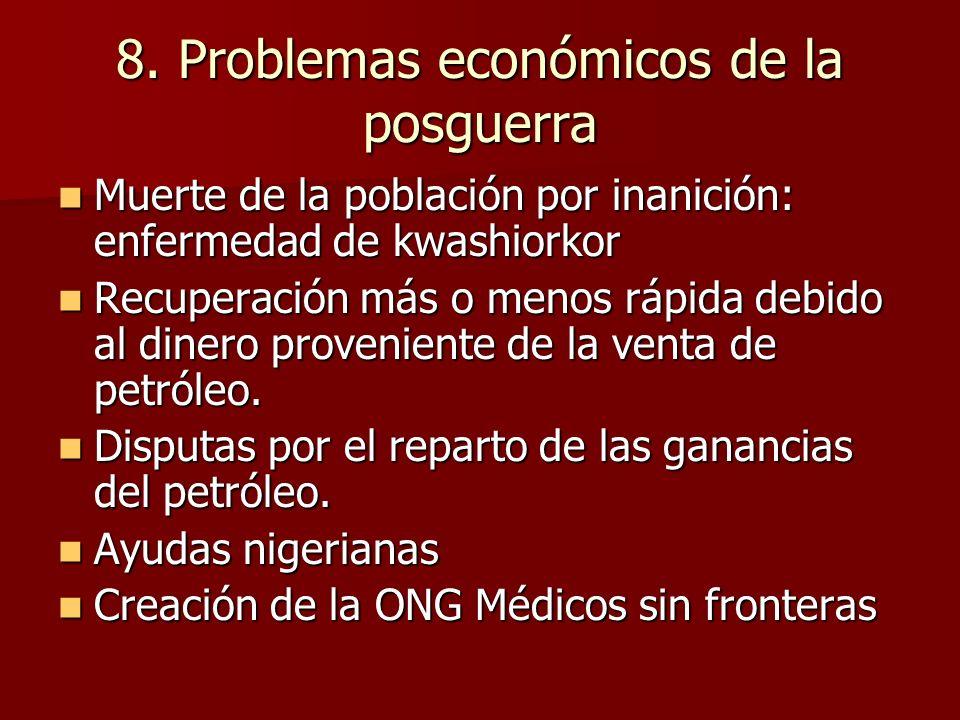 8. Problemas económicos de la posguerra