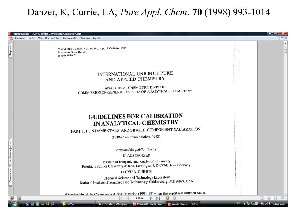 Danzer, K, Currie, LA, Pure Appl. Chem. 70 (1998) 993-1014