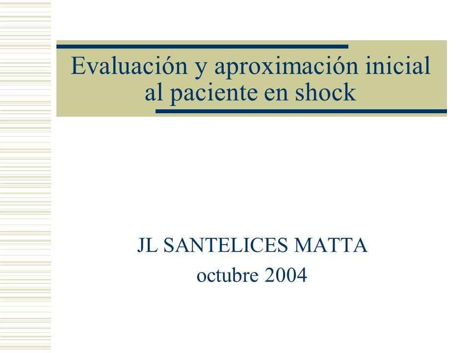 Evaluación y aproximación inicial al paciente en shock