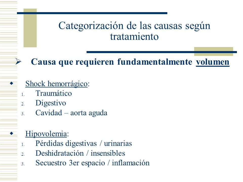 Categorización de las causas según tratamiento