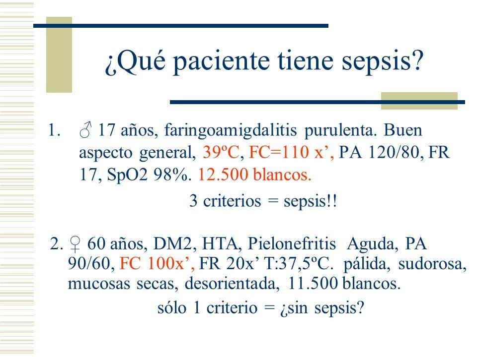 ¿Qué paciente tiene sepsis
